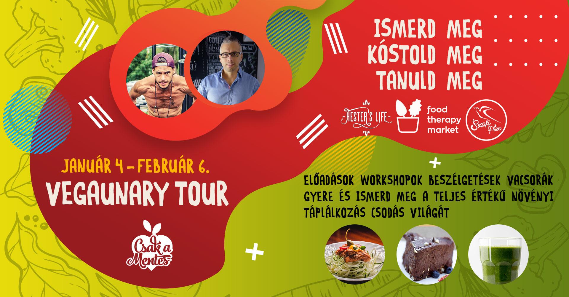 Veganuary Tour országjáró előadás és workshop sorozat